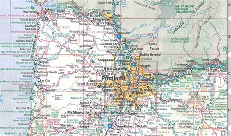 map of oregon state themapstore oregon state travel map