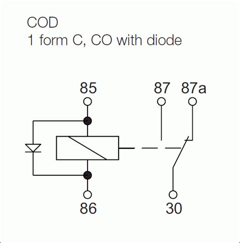 how does a diode work in a car relays