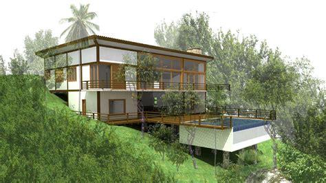 casas em terreno inclinado projetos de casas em terrenos
