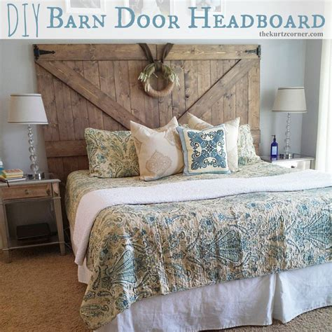 Diy Door Headboard The Kurtz Corner Diy Barn Door Headboard