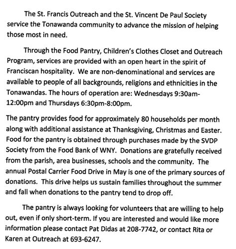 St Francis Food Pantry by St Vincent De Paul Outreach Food Pantry St Francis Of