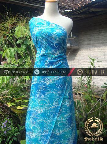 Kain Batik Cap Medan Biru jual kain batik cap jogja biru warna kontemporer