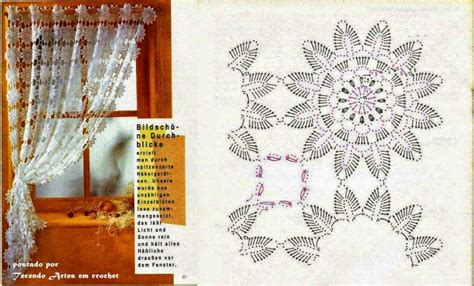 patrones cortinas ganchillo cortina con estilo rom 225 ntico con ganchillo crochet y dos