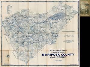 mariposa california map map of mariposa county california california map