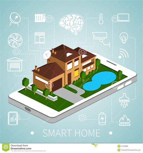 isometric smart home stock vector image 51702868