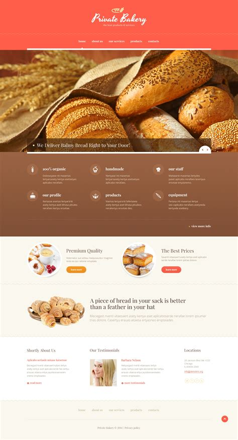 responsive website templates for quiz bakery responsive website template 47643