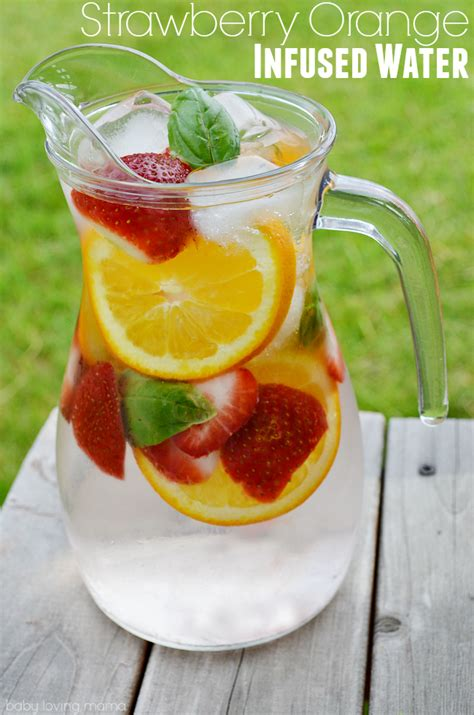 Infuse Water Jug strawberry orange basil infused water recipe