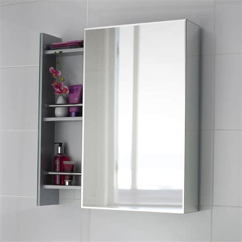 Mirrored Bathroom Cabinet With Shelves Premier Mirrors Intrigue Mirror Cabinet Lq039
