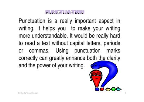 Punctuation Essay by Punctuation Marks By Dr Shadia Y Banjar
