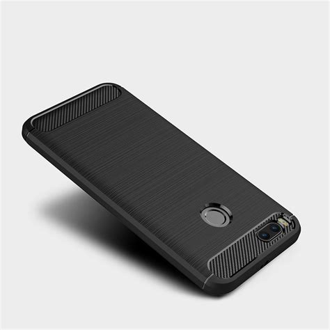 Xiaomi Mia1 Mi5x Soft Brushed Carbon Casing naxtop wire drawing carbon fiber textured tpu brushed finish soft phone back cover for