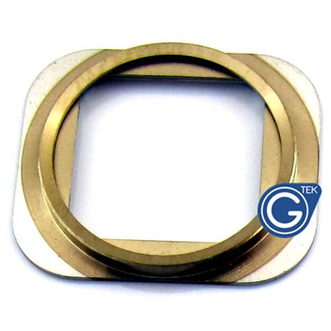 iphone 5s home button chrome ring in gold iphone 5s