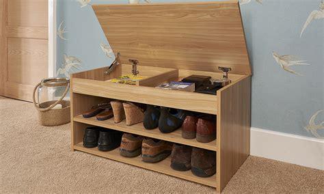 oak shoe rack bench shoe storage cabinet rack oak effect wooden hallway
