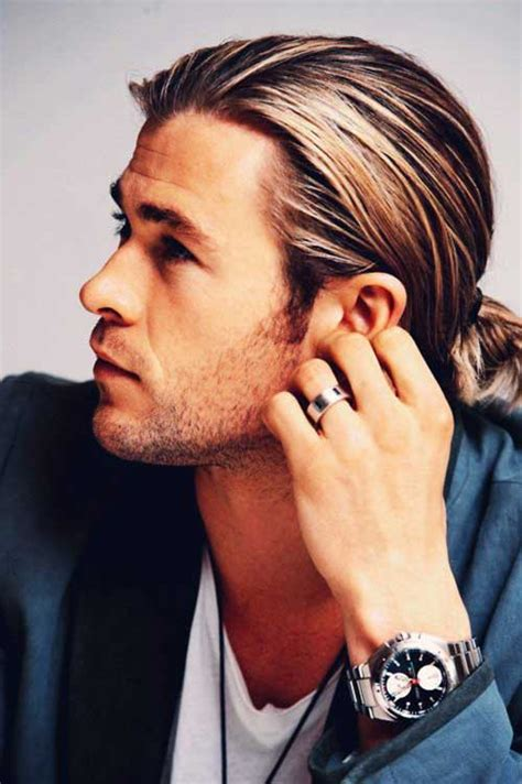mens poney tail styles 15 men ponytail hairstyles mens hairstyles 2018