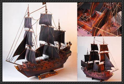 Papercraft Pirate Ship - of the caribbean black pearl wench