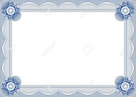 cornice diploma blue certificate border clipart www imgkid the