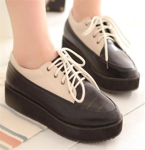 high flat platform shoes womens colored toe high platform flat casual