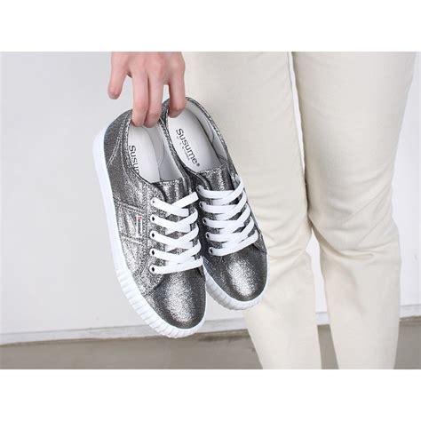 Sepatu Fashion Sneakers Semi Boots Platform Velcro Glitte 1 s glitter gray white platform low top fashion sneakers shoes what is fashion