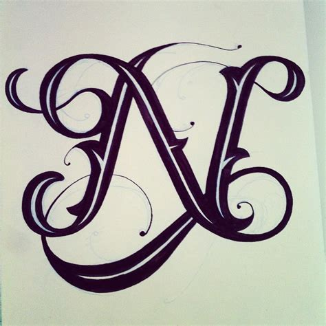 tattoo letters n clemover n letter tattoo s pinterest calligraphy