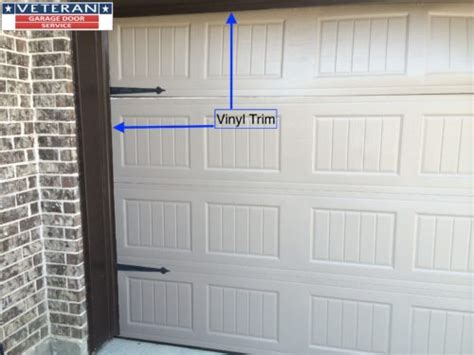 seal around garage door when should i use vinyl trim around my garage door