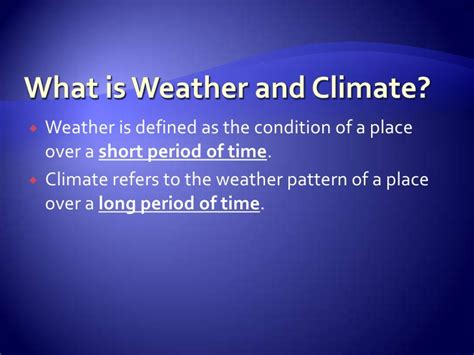Definition Landscape Climate Weather And Climate Lesson For Geography Secondary 1