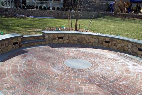 circular paver patio circular paver patio designs search porches and
