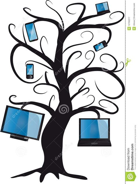 Electronic Tree - electronic tree royalty free stock photography image