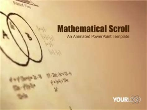 math themes for powerpoint 2010 math scroll a powerpoint template from presentermedia com