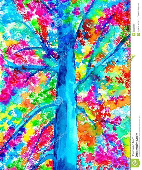 l illuminato tronco di albero con l acquerello illuminato delle