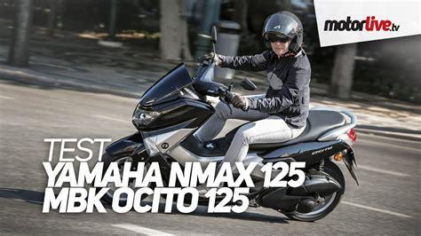 test yamaha nmax  mbk ocito  youtube