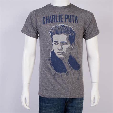 charlie puth merchandise charlie puth charlie portrait slim fit t shirt
