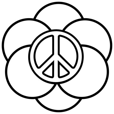 Peace Coloring Pages 1 Coloring Kids Peace Sign Coloring Page