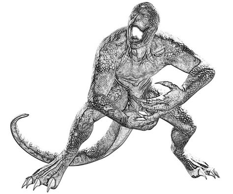 lizard man coloring pages the amazing spider man lizard character yumiko fujiwara