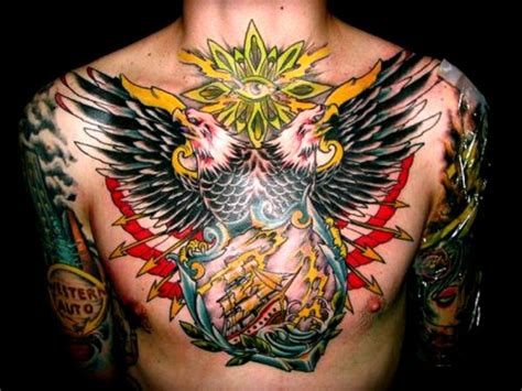 tattoo eagle chest eagle chest tattoos for men