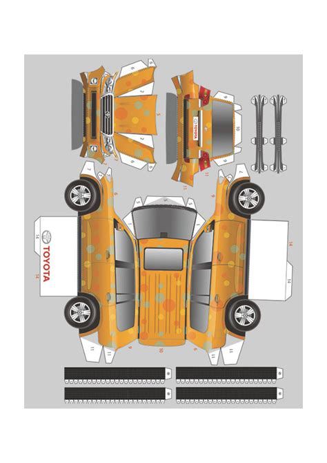 Toyota Papercraft - now you can own a papercraft toyota fooyoh entertainment