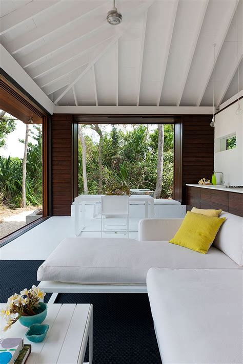 small tropical style beach house opens    world