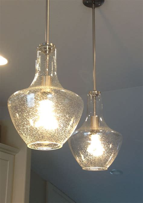 glass pendant lights for kitchen lighting design ideas seeded glass pendant light clear