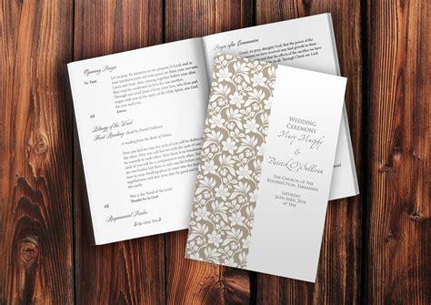 mass booklet templates wedding scribblers wedding stationery wedding