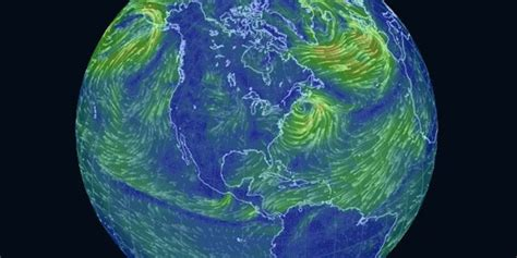 earth wind map this trippy map of global wind patterns is a time huffpost