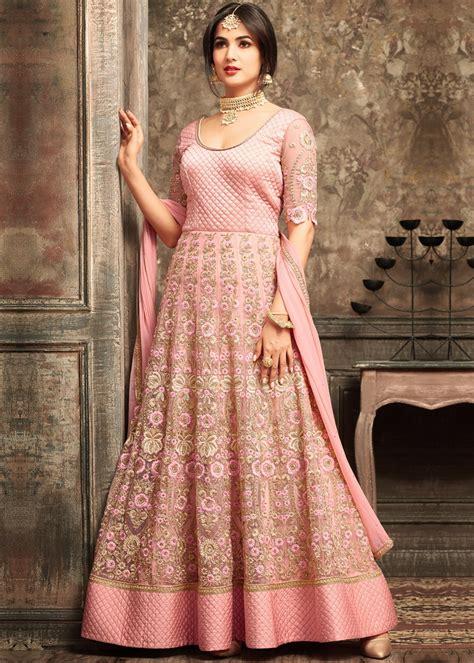 sonal chauhan designer suits sonal chauhan pink net anarkali suit salwar kameez 1741sl08