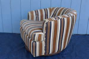 Club Chair Slipcovers Striped Club Tub Swivel Barrel Chair With Casters By
