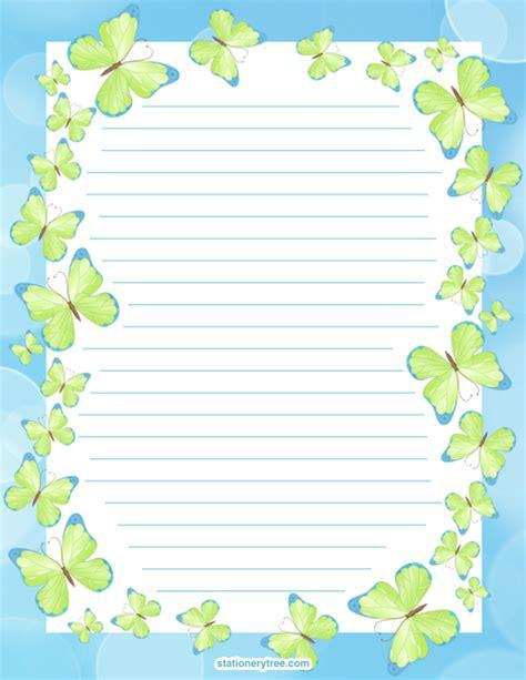 Printable Paper No Watermark | printable paper no watermark printable butterfly stationery