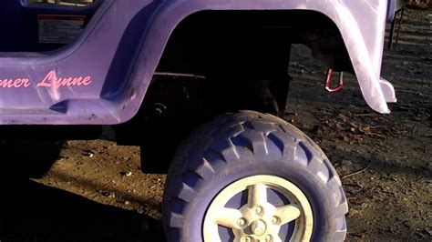 lifted jeep power wheels modified power wheels lifted barbie jeep youtube