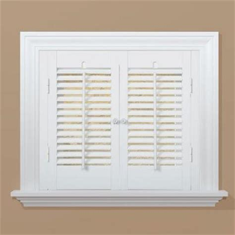 homebasics traditional real wood walnut interior shutter price varies by size qstd3536 the homebasics traditional faux wood white interior shutter