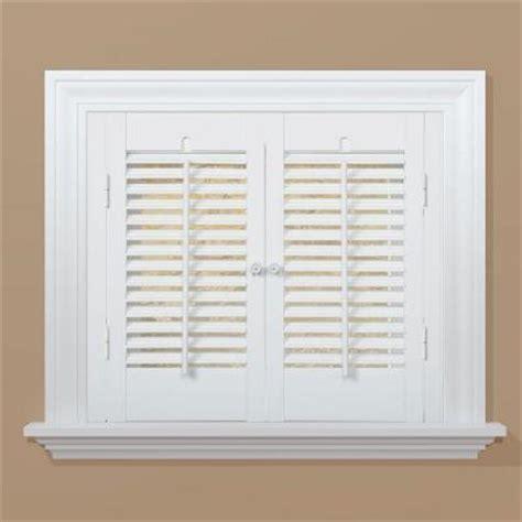 Faux Wood Shutters Interior Homebasics Traditional Faux Wood White Interior Shutter