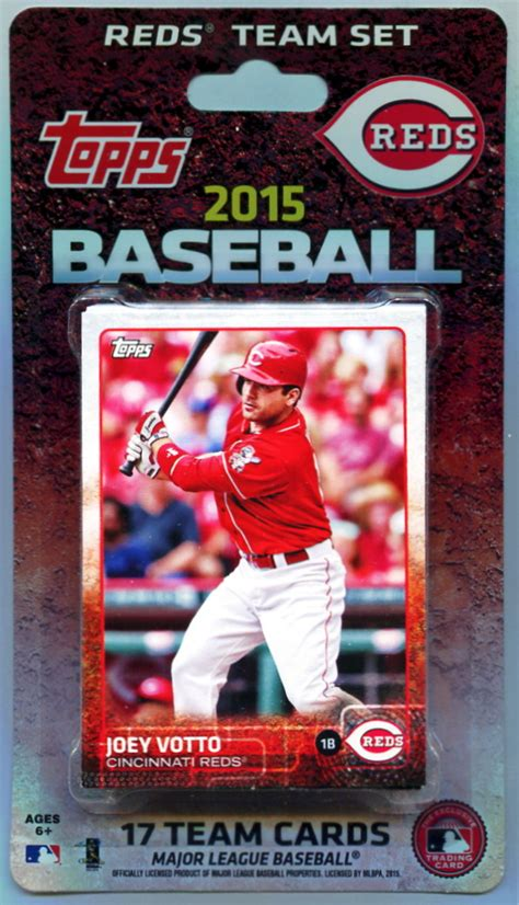 Cincinnati Gift Card - 2015 cincinnati reds topps mlb factory baseball cards team set