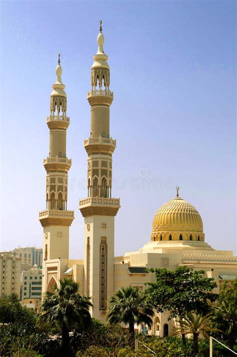 islamic mosque  minarets stock photo image