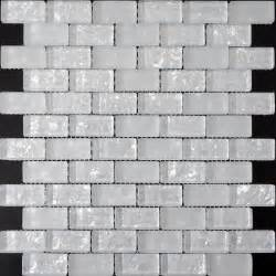 Cracked Glass Tile Backsplash - crackle glass mosaic tiles ice pearl glass subway tile zz015