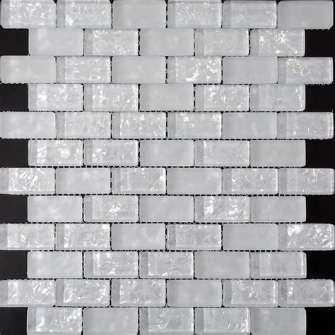crackle glass mosaic tiles pearl glass subway tile zz015