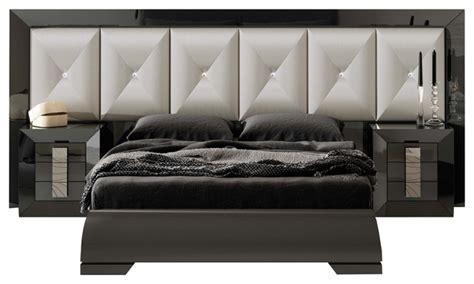 md 28 special headboard bedroom set glossy gray