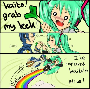 Leek Meme - kaito grab my leek by icanreachthestars on deviantart